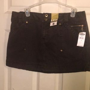 NWT Old Navy brown jean mini skirt size 8